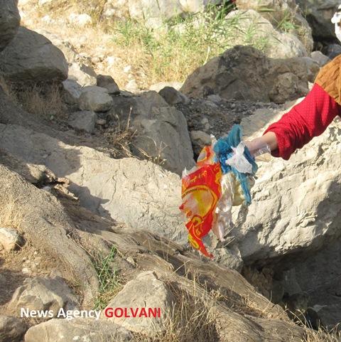 پاکسازی آبشار «نوژیان» از زباله