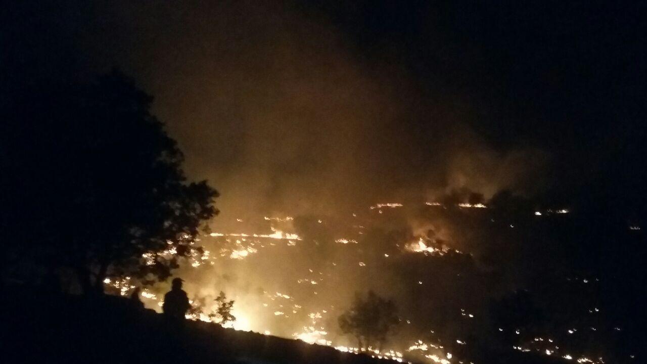 تاخیر ۵ ساعته برای مهار آتش در کوهدشت لُرستان
