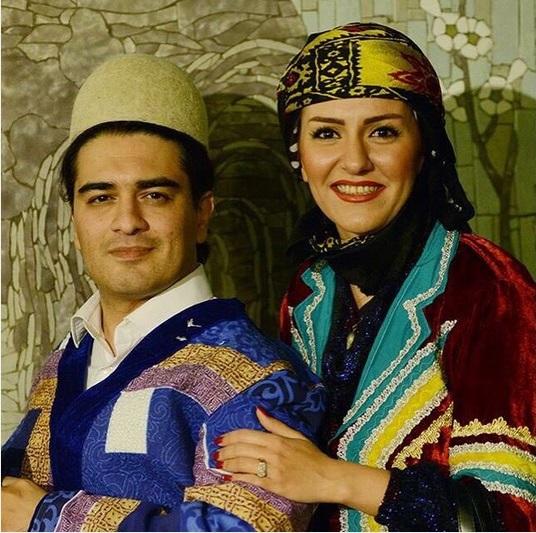 هنرمندی که با همسرش لری پوشید