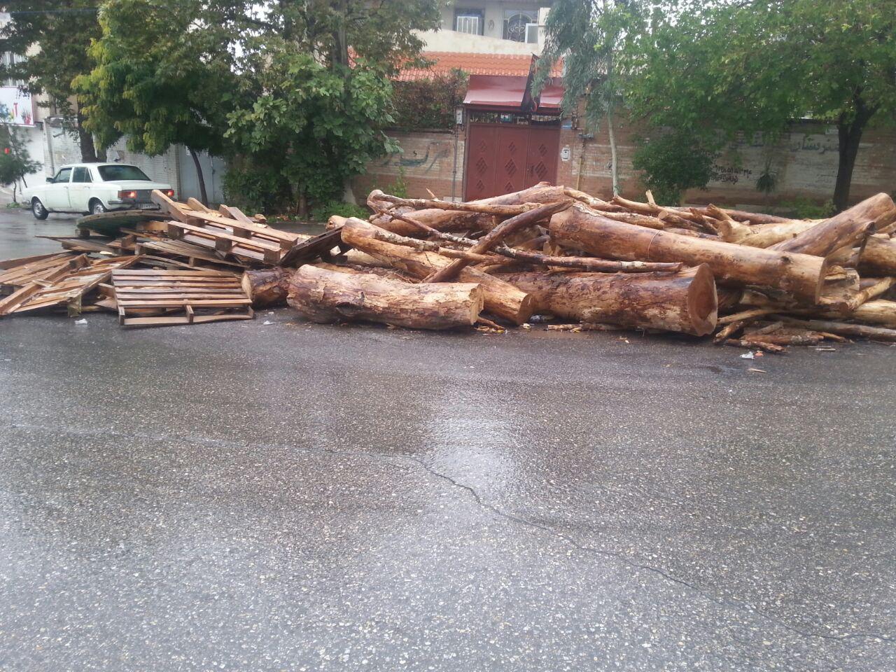 ضایعات چوبی برای آتش روز عاشورا
