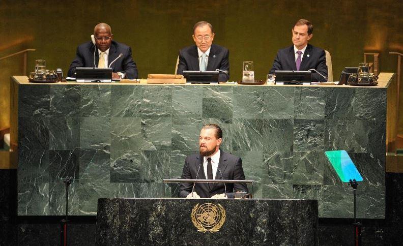 دیکاپریو در سازمان ملل از محیطزیست گفت