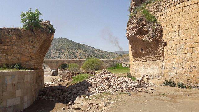 مرمت تاق الحاقی ریختهشده پل کشکان