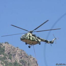 استفاده از ۲ بالگرد در مانور اطفای حریق خرمآباد