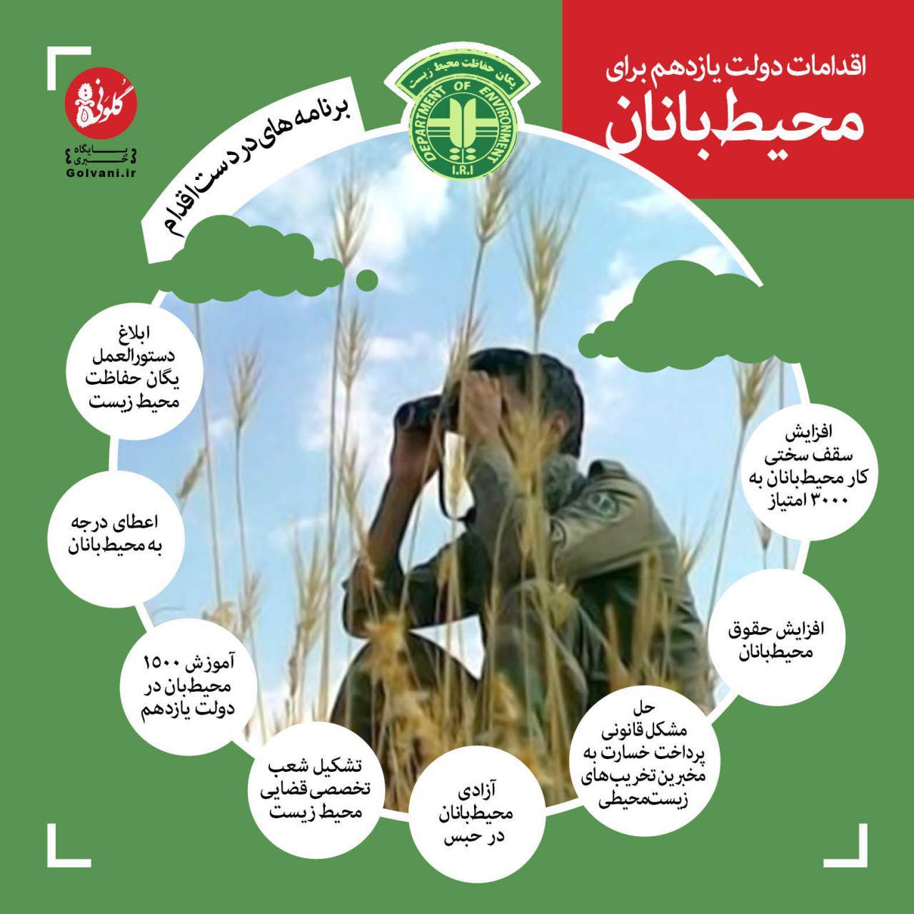 اقدامات سازمان محیط زیست برای محیطبانان