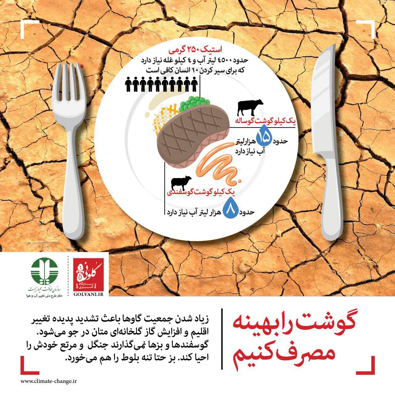 خوردن گوشت گاو زمین را گرم میکند