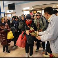 بازدید گردشگران قطار عقاب طلایی از شهر تاریخی یزد