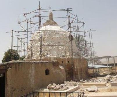 آغاز فاز دوم عملیات مرمت مقبره زاهد شیر خرمآباد