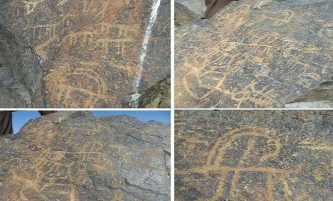 کشف سنگنگارههای تاریخی در تربت حیدریه