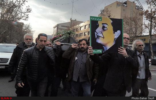 پوران فرخزاد تشییع شد