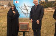 رونمایی از سنگ یادبود درخت صلح و دوستیِ ایران و ژاپن
