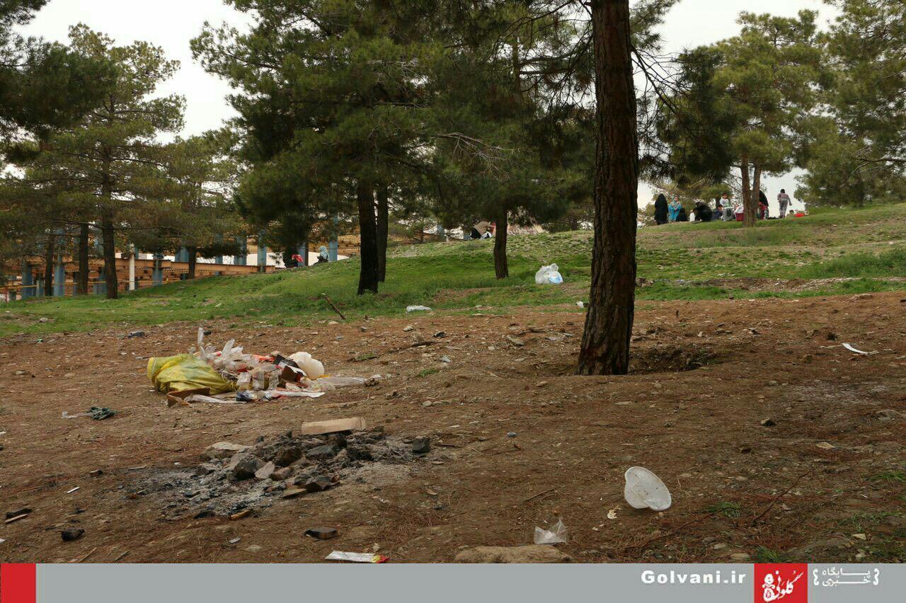 گزارش تصویری از سیزدهبهدر پر زباله