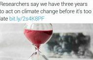 فقط سه سال برای توقف آثار تغییر اقلیم وقت باقیست!