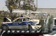 واژگونی خودروی پلیسراه در تصادف با نیسان