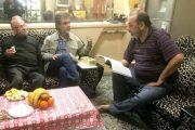 عوامل «کتاب شب» در خانه محمود گلابدرهای + تصاویر