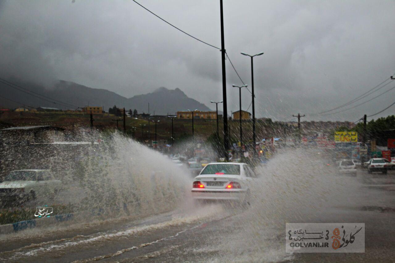 داستان تکراری باران و خیابانهای خرمآباد + عکس
