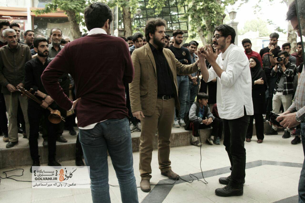 اجرای نمایش خیابانی مقصر در خرمآباد