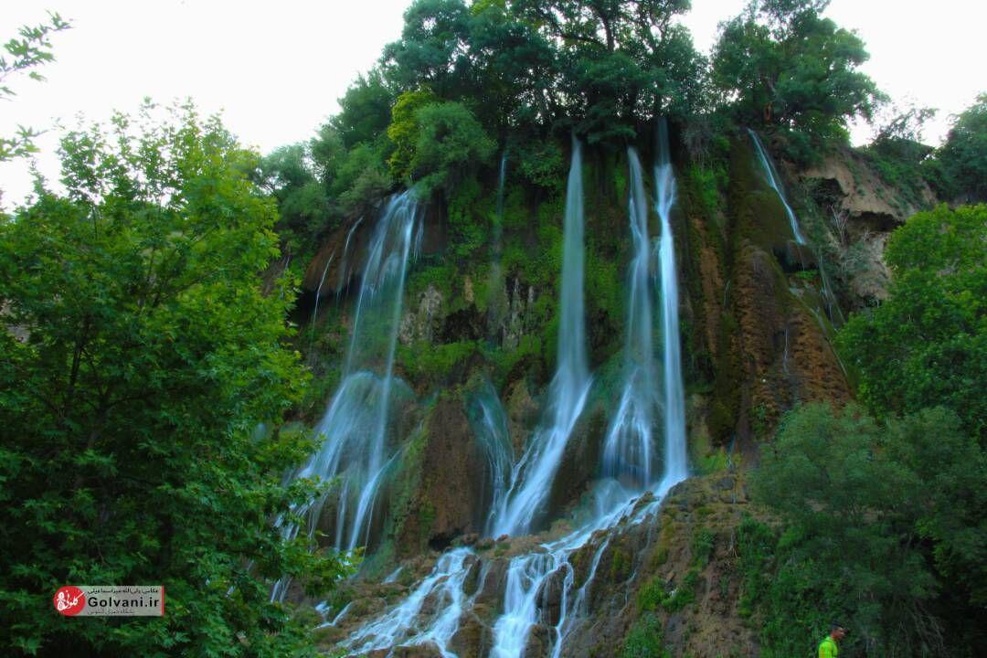 تاج آبشار بیشه لرستان فرو ریخت