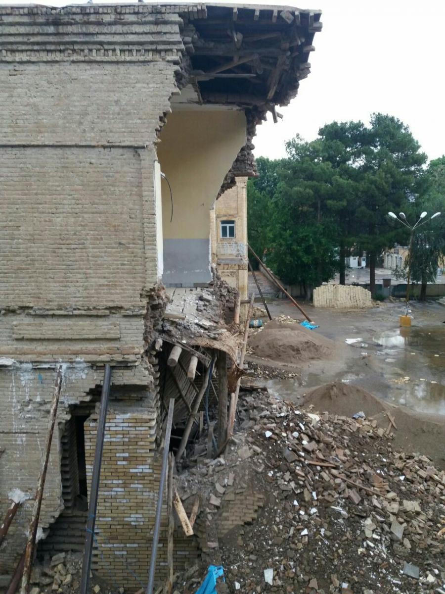 تخریب دیوار باشگاه افسران