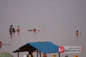 حضور خانواده ها در کنار دریاچه