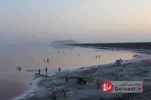 دریاچه ارومیه در کنار میان گذر