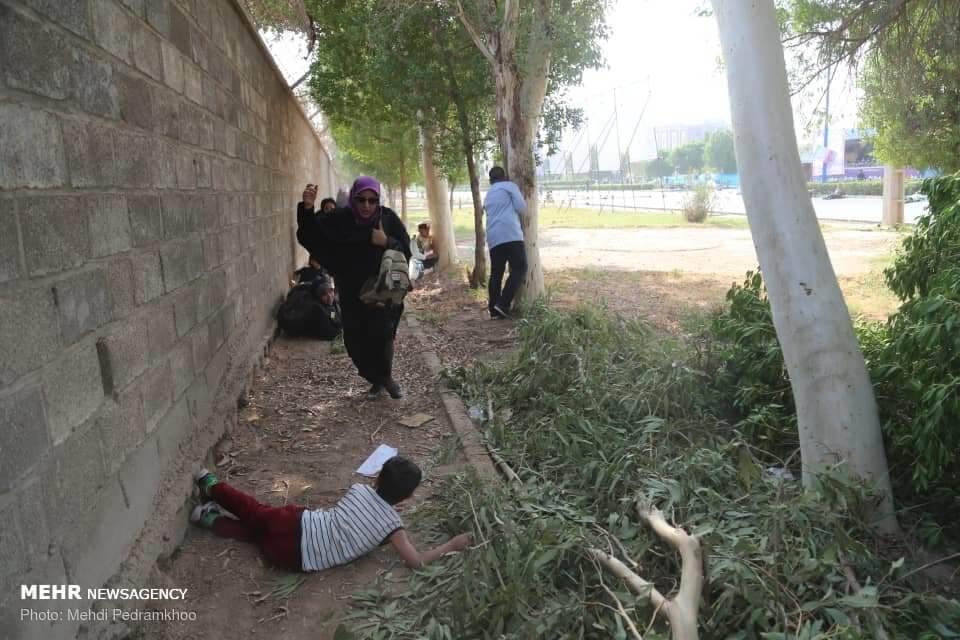 بچه ها در حمله تروریستی اهواز