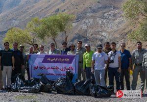جمع آوری زباله ها از اشترانکوه
