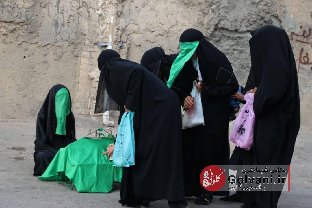 مراسم چهل منبر زنان خرم آبادی در روز تاسوعا