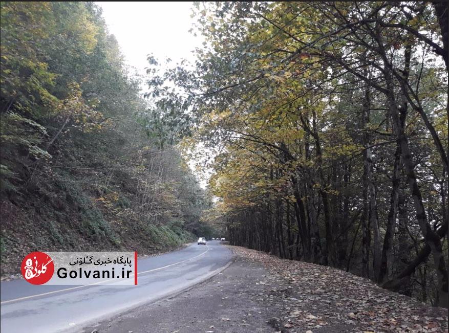 جاده اسالم به خلخال پاییزی شد