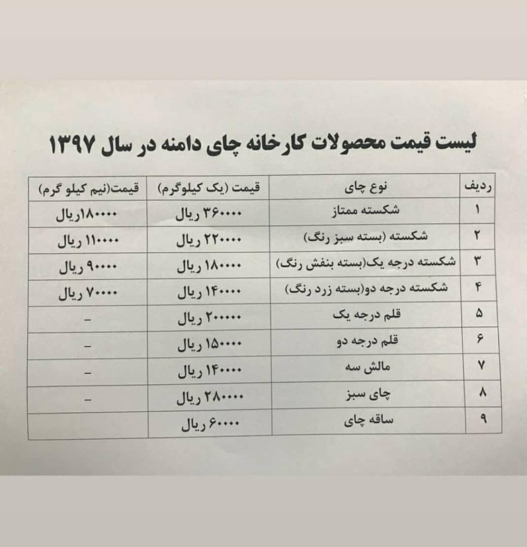 قیمت چای مرغوب ایرانی
