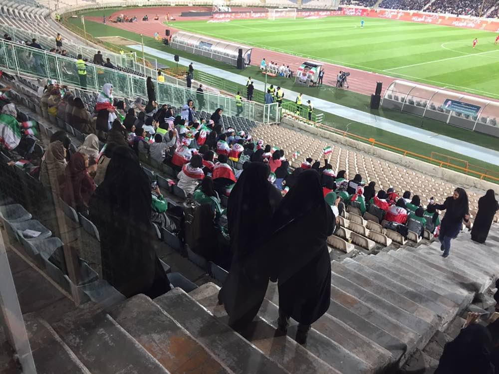 بانوان ایرانی پیروز بازی فوتبال