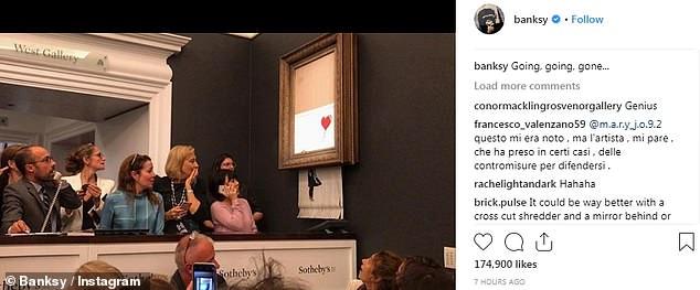 بنکسی نقاشی یک میلیون پوندی دختری با بادکنک را پاره کرد