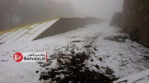 مسیر کوهنوردی در برف
