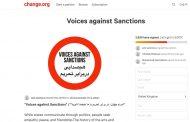 Voices against Sanctions