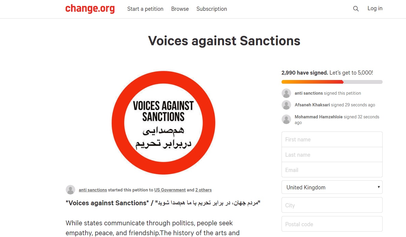 Voices against Sanctions