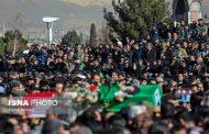 پیکر دو شهید سانحه هواپیمایی سقوط هواپیمای ارتش در لرستان تشییع شد