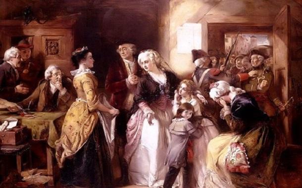 چهارپایه شناور وسیلهای برای تنبیه زنان در اوایل قرن هفدهم انگلستان