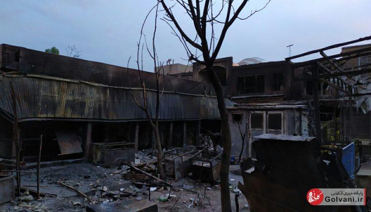 آتشسوزی بازار تبریز
