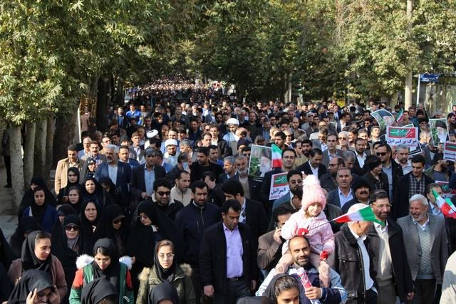 راهپیمایی مردم خرم آباد در جهت لزوم امنیت و وحدت در جامعه
