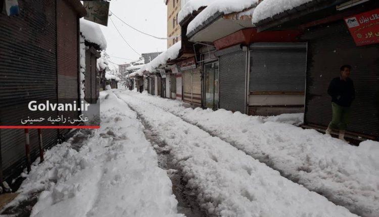 گزارش تصویری بارش شدید برف در شهر رشت؛ برف با شهر باران چه کرد؟