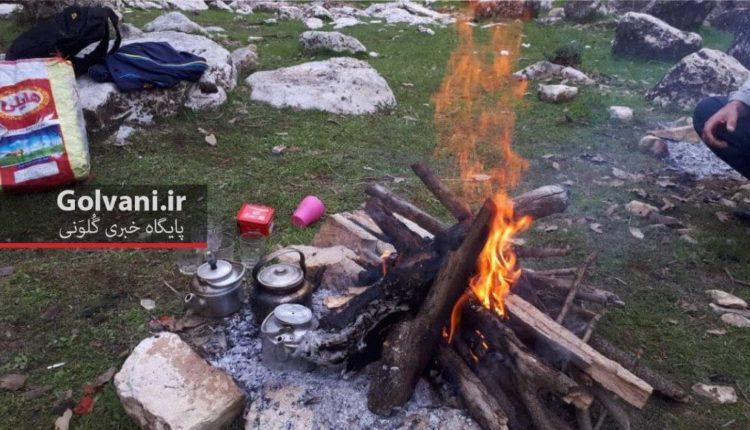 آتش با چوب بلوط