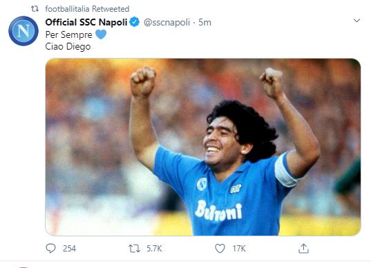 واکنش باشگاه ناپولی