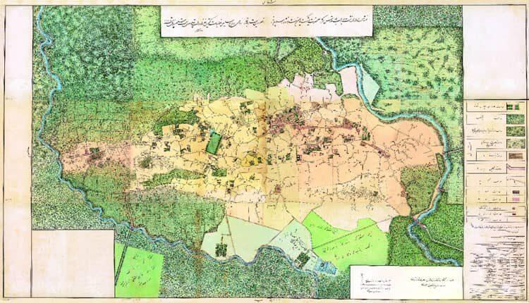 نقشه تاریخی شهر رشت