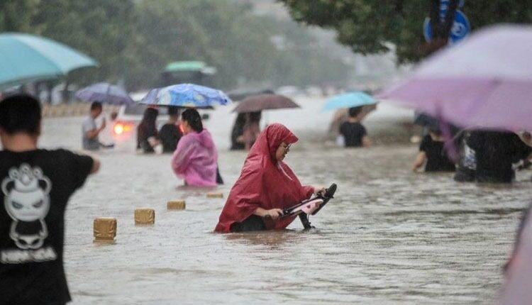 سیل در مرکز چین با بیش از ۵۵۲ میلی متر باران در ۲۴ ساعت