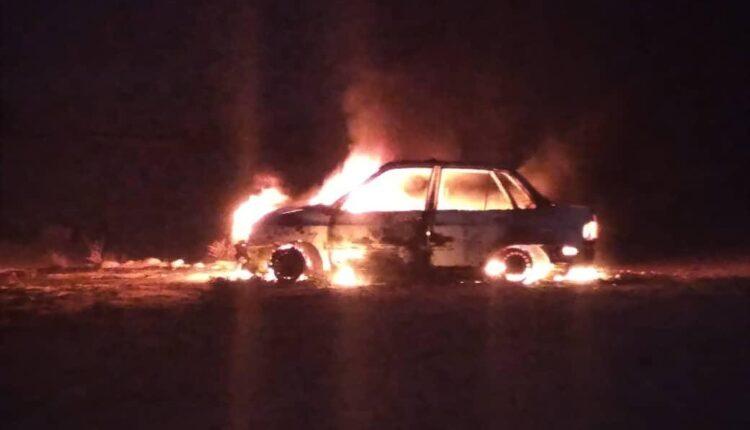ماشین همیار محیط زیست آتش گرفت