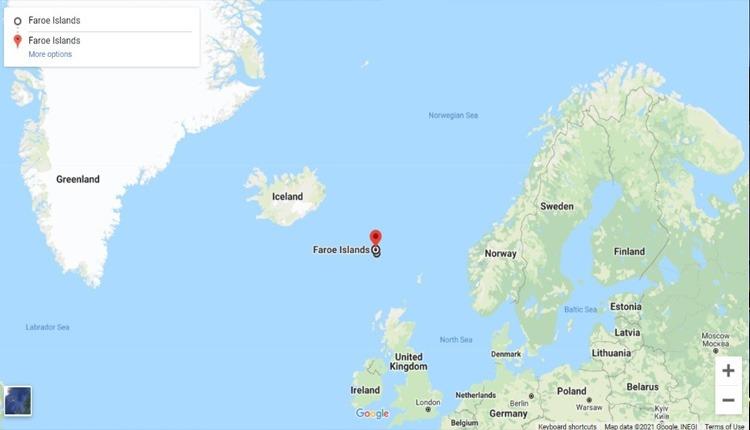 جزاریر فارو بین دریای نروژ و اقیانوس اطلس