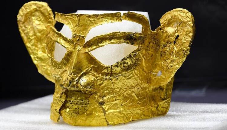 ماسک طلایی تاریخی در چین کشف شد