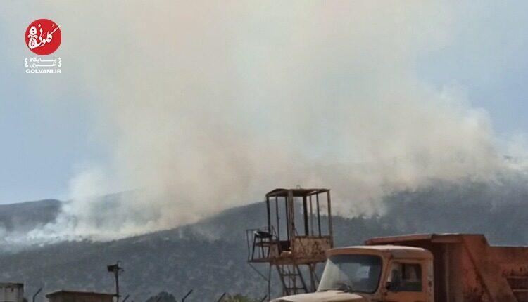آتش سوزی کوه نیر و تلاش برای دفع حریق