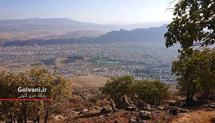 نمای شهر خرم آباد از قله ورطاق