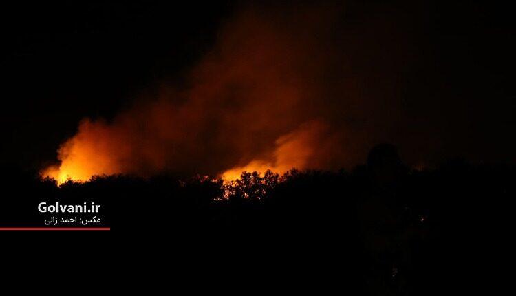 آتش سوزی جنگل کرخه