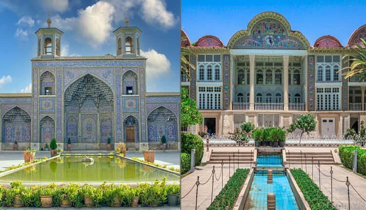 بررسی معماری باغ ارم و مسجد نصیرالملک در شیراز